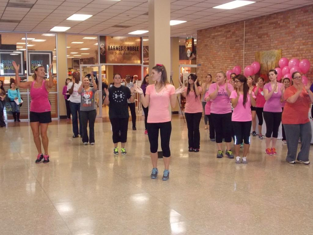 Zumbathon+participants+sweat+in+the+student+center+while+supporting+awareness.