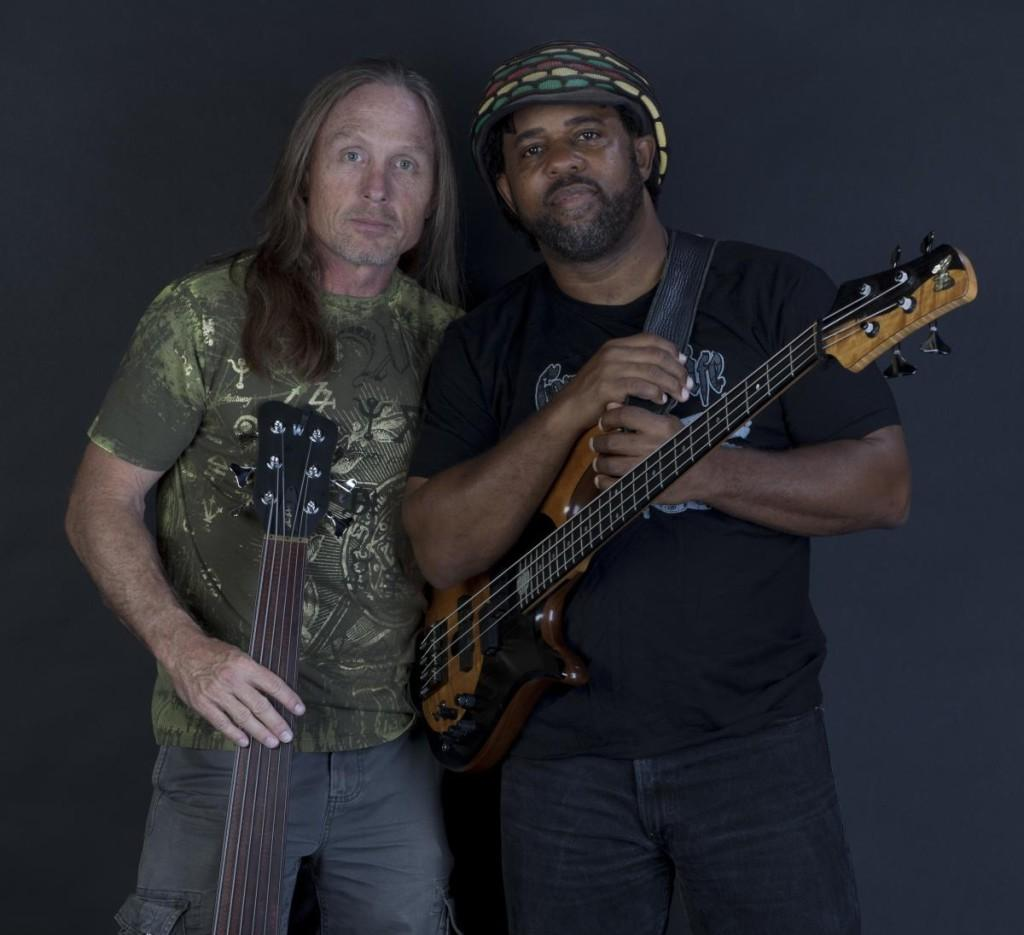 Steve Bailey (L) and Victor Wooten make up the duo Bass Extremes.