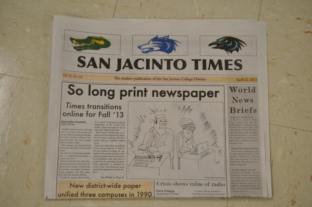 The+last+issue+of+the+spring+semester+says+a+nostalgic+goodbye+to+San+Jacs+traditional+student+publication.