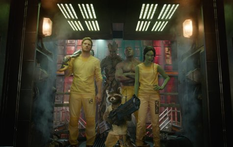 Marvel's 'Guardians of the Galaxy' are (from left) Chris Pratt as Star-Lord/Peter Quill, Vin Diesal as Groot, Bradley Cooper as the voice of Rocket Raccoon, Dave Bautista as Drax the Destroyer, and Zoe Saldana as Gamora.