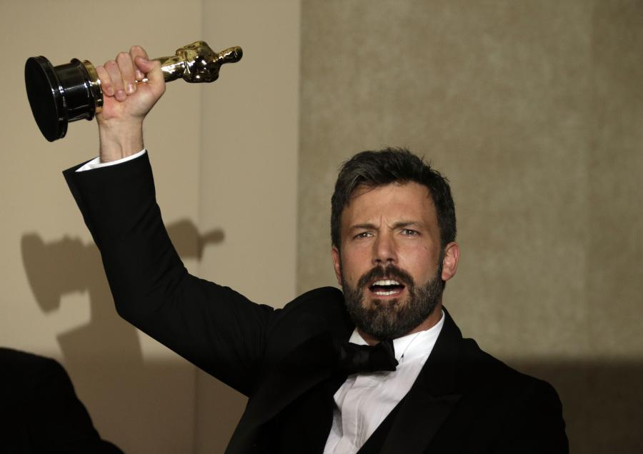 Affleck proudly displays his golden statue for 'Argo' at the 85th annual Academy Awards. His latest film may be another Oscar contender.