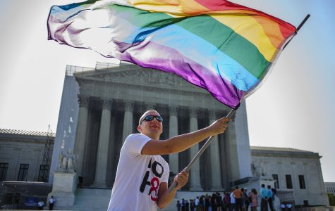 San Jac events are aimed at spotlighting the struggles of the LGBT community like those of the demonstrators gathered in front of the U.S. Supreme Court June 25, 2013, in Washington, DC. to support gay rights issues.