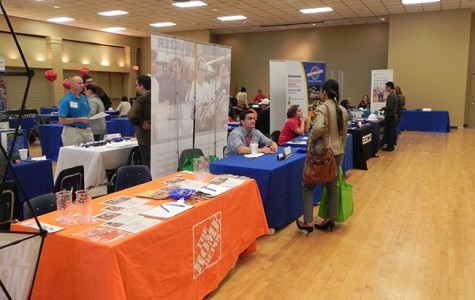 Home Depot was one of the many well known companies seeking future employees at San Jac Central campus.