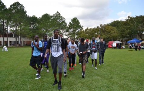 Ravens basketball players arrive at Central campus to kick off their upcoming season.