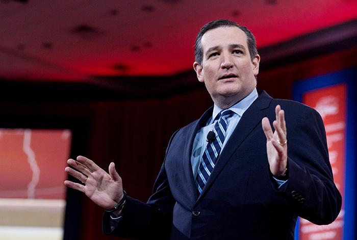 U.S. Sen. Ted Cruz (R-Texas) speaks at the 42nd annual Conservative Political Action Conference (CPAC) on Feb. 26 in National Harbor, Md. He announced his candidacy for president March 23.