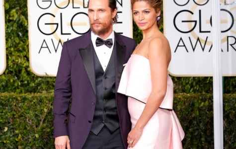 The A-list actor and wife Camila Alves arrive at the 72nd Annual Golden Globe Awards show on Sunday, Jan. 11. He will receive $135,000 for delivering the commencement address at the university's Spring 2015 graduation.