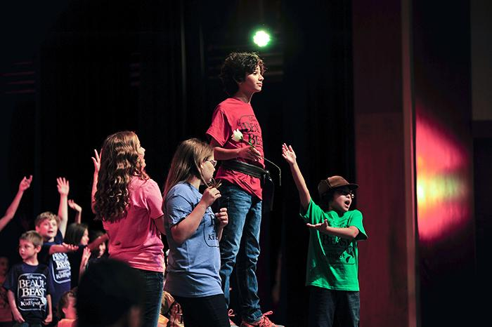 Campers perform 'Beauty and the Beast, Jr.' as the 2014 summer theater show.