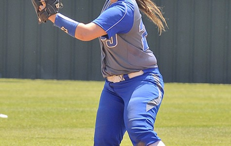 Sophomore Brittany Woods takes the field at the South campus in May. The team was 41-24 in the 2015 season.