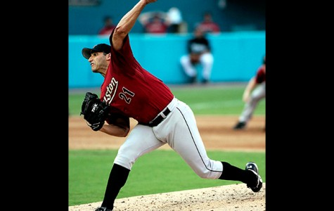 Andy Pettitte pitches against the Florida Marlins in 2006 during his tenure with the Houston Astros. The MLB star's memorabilia will be up for auction Oct. 13 to raise  money for San Jac student scholarships.