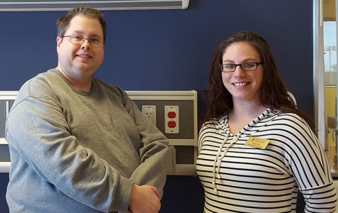 Administrative assistants David Payton (left) and Laura Culp will help host prospective students during First Steps into Nursing March 4 on the South campus.