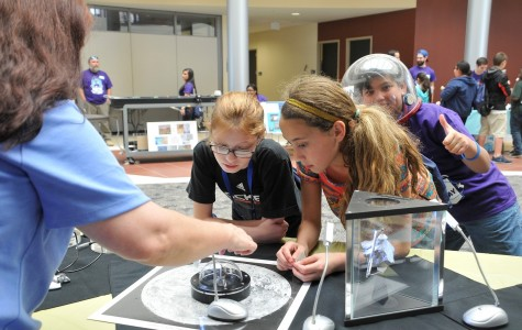 Students from Odyssey Academy enjoy a demonstration during NSSD in 2015.