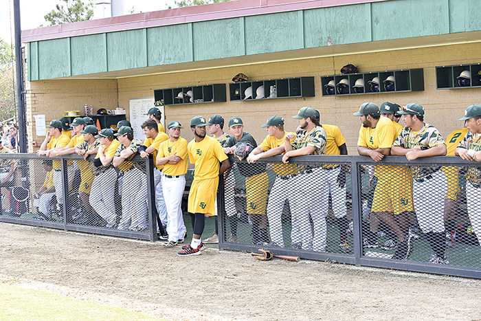 San Jacinto College baseball players are shown during a recent scrimmage at the North Campus John Ray Harrison Field at Andy Pettitte Park.