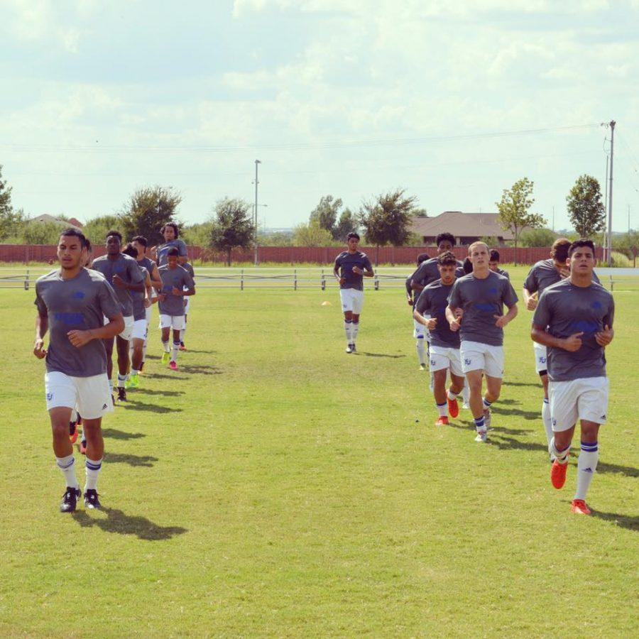 The Coyotes are shown warming up before a game with Laredo College last season. The hard work continues to pay off in wins for the 2016 team.