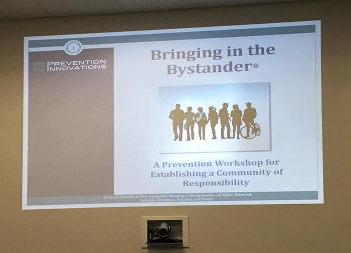 Bringing in the Bystander encourages participants to intervene when they recognize a problem developing.