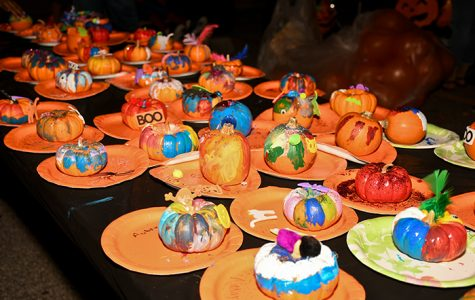 In 2016, the Student Government Association participated in the yearly festival by hosting a pumpkin painting table. This year's event features a wide range of family-friendly activities including train rides, a petting zoo, and a costume contest open to all ages.