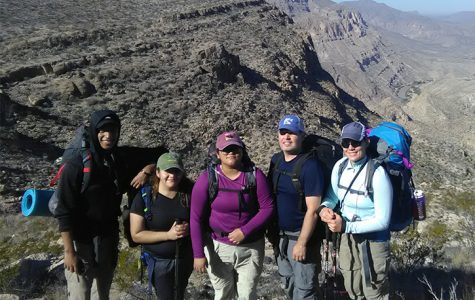 Members of the new North Campus club hike unfamiliar terrain in Big Bend National Park during the group's weeklong trip in March.