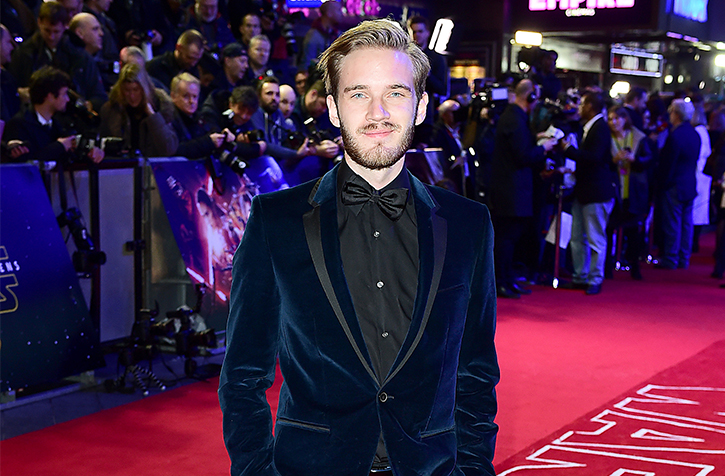 Controversial+online+celebrity+Felix+Kjellberg+attends+the+London+premier+of+Star+Wars%3A+The+Force+Awakens+on+Dec.+16%2C+2015.+In+the+latest+of+a+series+of+offensive+incidents%2C+a+video+of+the+star+using+a+racial+slur+went+viral+costing+Kjellberg+several+lucrative+deals.