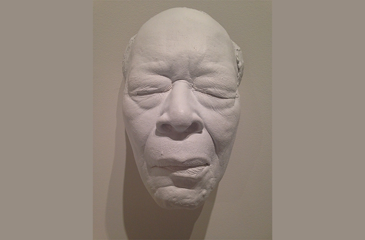 A life cast of legendary harmonica player James Cotton is part of the exhibit on display in the art gallery on the South Campus until Oct. 19.
