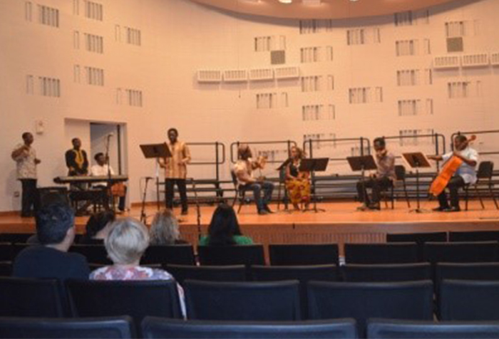 Journey to Africa features the SJCC African Combo (shown here) along with guest performers, the African Hymn Project.