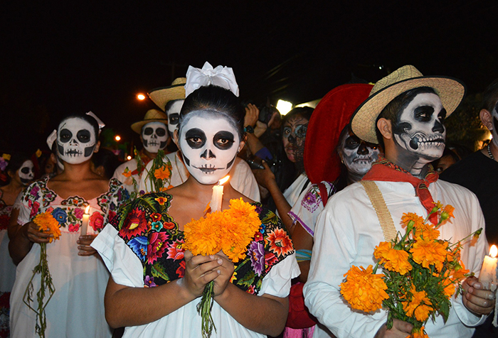 Skulls+are+a+common+symbol+in+Day+of+the+Dead+traditions.+Event+attendees+will+be+able+to+decorate+their+own+sugar+skulls+as+part+of+the+festivities+on+Oct.+31.+