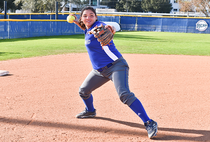 Head Coach Kelly Saenz points to a trio of powerhouse Sophomores, including Samantha Martinez (pictured), to lead the team into post season play.