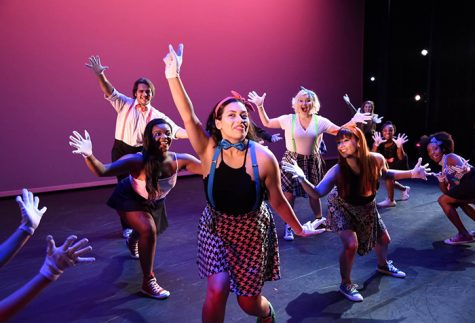 Dancers (from left) Brielle Hudson, Tyler Rooney, Juanita Alanis, Bethany Mills, Anitra Danielle, Isabella Marcuccio, Tiara Blake, and Breyonna Milton perform 'Zoom Pop Pop' choreographed by Jamie Williams during a past concert.