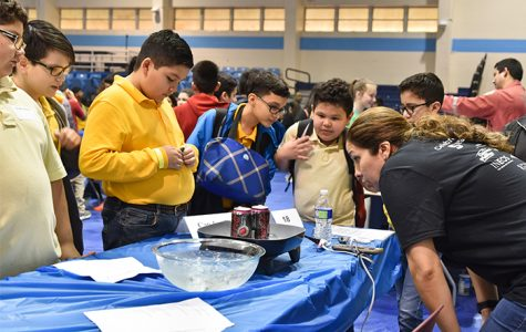 Houston area sixth graders attend last year's Mind Trekkers: Adventures in Stem, where they are fascinated by experiments and demonstrations known as STEMonstrations.