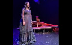 Stephanie Garza, cast as The Bride, rehearses a scene from 'Blood Wedding,' a play by Federico García Lorca.